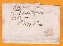1692 -  Lettre Pliée Avec Correspondance De DOUAY, Douai Vers LISLE, Lille, Nord, France - Marcophilie (Lettres)