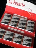 La Fayette - Silver Stainless - Présentoir Carton Complet - 20 Paquets Scellés De Lames De Rasoir. - Scheermesjes