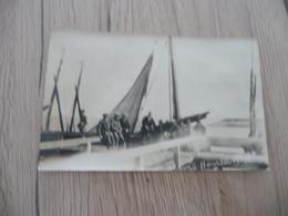 Carte Photo 80 Somme Le Hourdel 1925 Bateau Voilier Animé Adhérences Au Dos - Le Hourdel