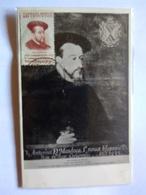 Mexico Maximun Card Unique 1939  Antonio Mendoza 1st Printing In Américas Painting By Jose Buil - Mexique
