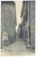 Cpa Ardèche - Andance Sur Rhône - La Rue De L'Hôpital ... - Frankreich