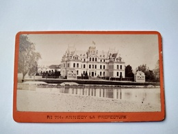 CDV ANNECY La Préfecture Circa 1883 - Belle Photographie Ancienne F. CHARNAUX, Genève TBE - Orte