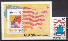 Bhutan - USA INDEPENDENCE 1978 MNH - Bhutan
