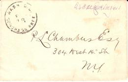 Free Frank Cover Signed By Roscoe Conkling - Stamps