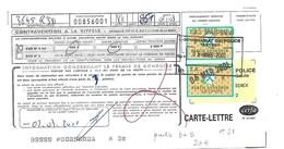 Timbre FISCAL Amende Sur Document N° 21  B + B - Fiscaux