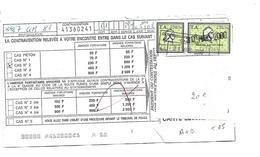 Timbre FISCAL  Amende Sur Document N° 25  A + B - Fiscaux