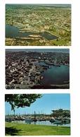 3 Different VICTORIA, British Columbia, Canada, BEVs & Oak Bay Marina, Old Chrome Postcards - Victoria