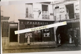 VERSAILLES - Pharmacie Dumas Photo Tirage Année 2000 D'une Plaque De Verre 1900 -côté Rue Des 2 Portes - 15 X 10 Cm - Orte