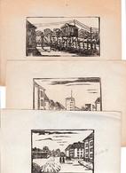 WW2 - OFLAG VI A - 9 Gravures De Fabrication Locale - - Documents Historiques