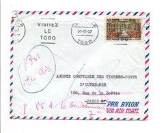 TOGO LETTRE DE LOME 1957 RETOUR A ENVOYEUR - Togo (1960-...)