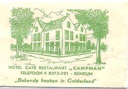 """Renkum, Hotel Café Restaurant """"Campman"""" (suikerzakje) - Suiker"""