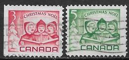 Canada 1967. Scott #476-7 (U) Christmas, Singing Children And Peace Tower, Ottawa ** Complet Set - 1952-.... Reign Of Elizabeth II