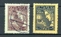 Pologne   Y&T   334 - 335     Obl    ---    TTB - 1919-1939 République