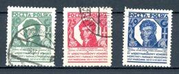 Pologne   Y&T   336 - 338     Obl    ---    TTB - 1919-1939 République