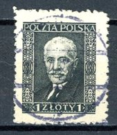Pologne   Y&T   344   Obl    ---   Noir Sur Crème  --  TB - 1919-1939 République