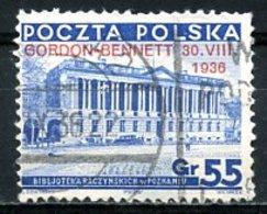 Pologne   Y&T   390B   Obl    ---   Coupe Gordon - Bennett  --  TB - 1919-1939 République