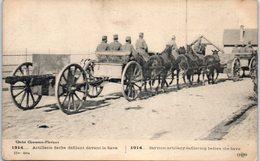 SERBIE --  Artillmerie Serbe Défilant Devant La Save - Serbia