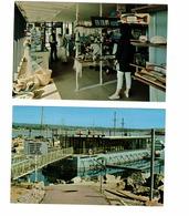 2 Different VICTORIA, British Columbia, Canada, Undersea Gardens, Oak Bay Marina, Old Chrome Postcards - Victoria