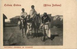 Eritrea - Notabili Abissini In Viaggio - Eritrea