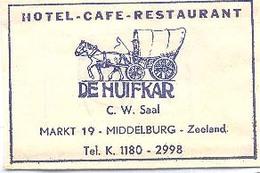 """Middelburg, Hotel Café Restaurant """"De Huifkar"""" (suikerzakje) - Suiker"""