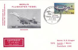 Berlin Flughafen Tegel, Concorde, 9.11.1974 - Avions