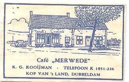 """""""Dubbeldam (Dordrecht)  Café  """"Merwede"""" (suikerzakje) - Suiker"""