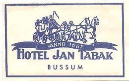 Bussum, Hotel Jan Tabak  (suikerzakje) - Suiker