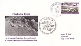 Exposition Philatelique Franco - Allemande, Berlin Flughafen Tegel, 9.11.1974 - Avions