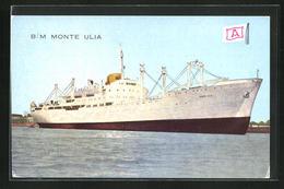 AK Handelsschiff B.M. Monte Ulia Bei Der Hafenausfahrt - Cargos
