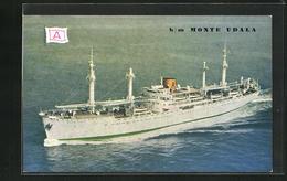 AK Handelsschiff B.M. Monte Udala In Voller Fahrt Aus Der Vogelschau - Comercio