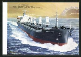 AK Handelsschiff M. V. Brooknes Auf Hoher See - Comercio