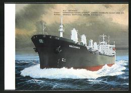 AK Handelsschiff M. V. Becknes Auf Hoher See - Comercio