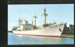 AK Handelsschiff M. V. Afram River In Fahrt - Handel