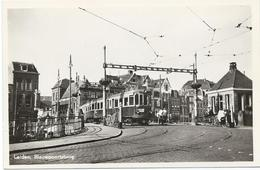 Leiden Blauwpoortsbrug Blauwe Tram Tramway Strassenbahn Trolley Naar/to Den Haag NZH 1950's - Leiden