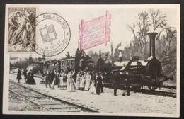 CM808 Locomotive Crampton «le Continent» Cheminots Philatélistes Paris Gare Du Nord Carte Maximum T 790 Résistance - Cartes-Maximum