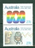 Australia: 1982   50th Anniv Of Australian Broadcasting Commission     MNH - Mint Stamps