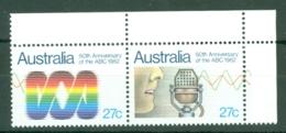 Australia: 1982   50th Anniv Of Australian Broadcasting Commission     MNH Corner Pair - Mint Stamps