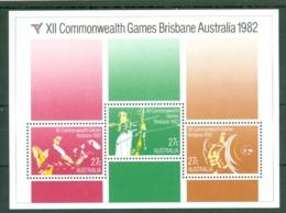 Australia: 1982   Commonwealth Games, Brisbane   M/S     MNH - Mint Stamps