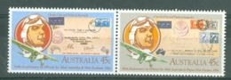 Australia: 1984   50th Anniv Of First Official Airmail Flights NZ-Australia     MNH Pair - Mint Stamps