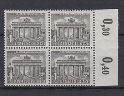 Berlin 42 4er Block Mit Oberrand Berliner Bauten (I) 1 Pf Postfrisch  - Berlin (West)