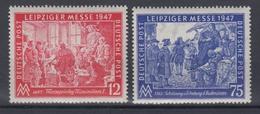 All. Besetzung Gemeinschaftsausgabe 965-966 Leipziger Herbstmesse Postfrisch - American,British And Russian Zone