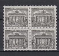 Berlin 42 4er Block Berliner Bauten (I) 1 Pf Postfrisch  - Berlin (West)