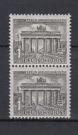 Berlin 42 Senkrechtes Paar Berliner Bauten (I) 1 Pf Postfrisch  - Berlin (West)