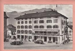 OUDE POSTKAART ZWITSERLAND - SCHWEIZ - SUISSE -   SCHWYZ - HOTEL WYSSES ROESSLI - AUTO - SZ Schwyz