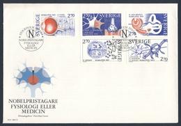 Sweden Sverige 1984 FDC : Mi 1311 /15 YT 1293 /7 SG 1218 /22 - Nobel Prize Winners Medicine / Physiologie Und Medizin - Medizin