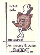Bergen Op Zoom,  Hotel Café Piet Mulders & Zonen,  Antwerpsestraatweg (suikerzakje) - Suiker