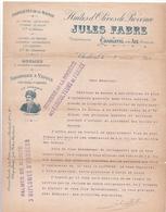 Fattura Comm.  -  Charleval Pres Aix  , Jules Fabre  ,  Huiles D'olives De Provence  -  Formato  Cm.21,7 X 27,3 - Alimentare