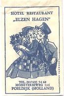 """Poeldijk, Monterseweg,  Hotel  Restaurant """"Elzen Hagen """"(suikerzakje) - Suiker"""