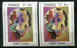 15984 FRANCE N°2130**(Cérés) 4F A . Gleizes : Vert Gris Au Lieu De Vert-olive  + Normal (non Fourni)  1981   TB - Errors & Oddities