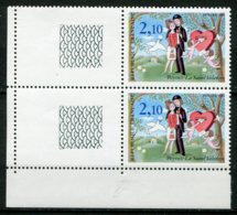15988 FRANCE N°2356b**(Maury) 2F10 Peynet : Oiseau Supplémentaire Tenant à Normal   1985   TB - Errors & Oddities